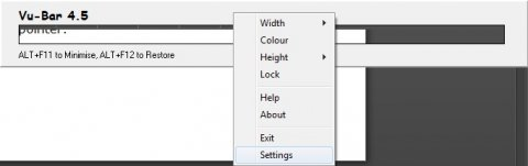 A black and white settings menu with choices such as width, color, height, and lock.