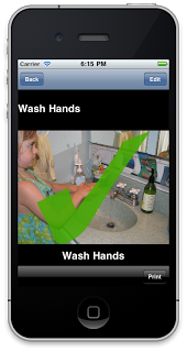 Screenshot showing confirmation that hands have been washed.