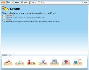 Screenshot of Create page.
