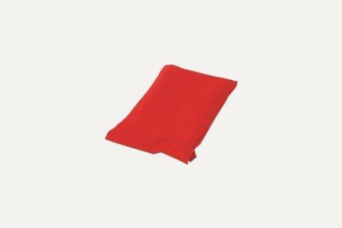 A red pillowcase.