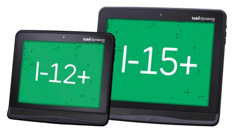 """Two tablets side by side. The smaller one says """"I-12+"""" on the screen while the larger one says """"I-15+""""."""