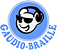 Logo featuring an icon of a bear with sunglasses and headphones with the company name below.