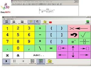 8 x 5 box software grid with numbers and mathematical symbols.