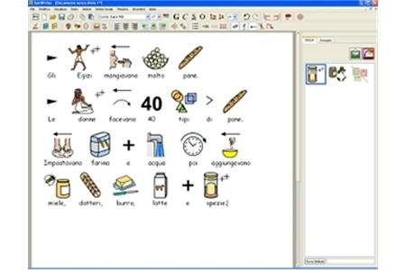 Screenshot of a page of symbols and the text describing them underneath.