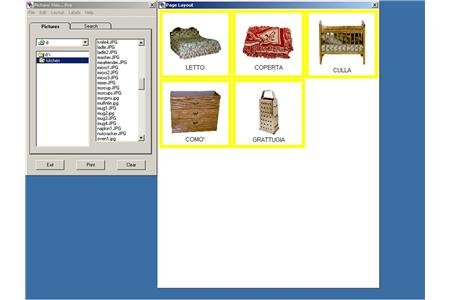 Screenshot of an AAC board with five pictograms.
