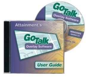 GoTalk Overlay Software CD and hard case.