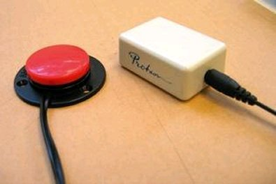 Small, rectangular box connected to a switch via a side port.