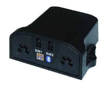 Small black device with two jack-socket inputs.