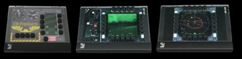 Three Multi Function Panels with the black keys positioned in a different array on each.