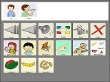 Software screen interface icons and options.