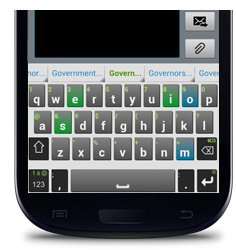 iKnowU Keyboard displaying the chunking feature with specific letters highlighted.