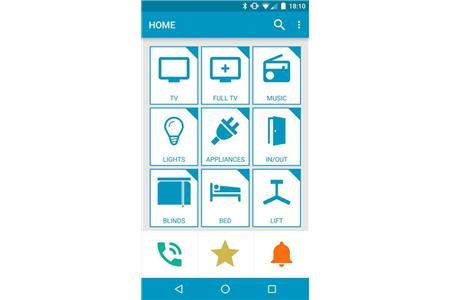 Application on the home screen where a user can control devices.