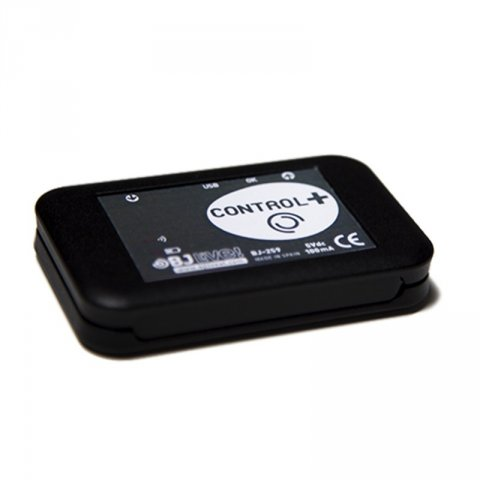 A flat, black rectangular device with rounded edges and the BJLive! brand name as product name on the front.