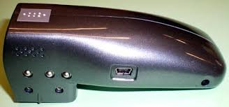 A rectangular device with an input on the side.