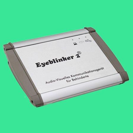 White thin rectangular device labeled Eyeblinker 2.