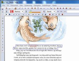 Word processing program featuring a selection of text an illustration.
