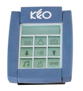 Handheld device with a key-guard overlaid over the led screen.