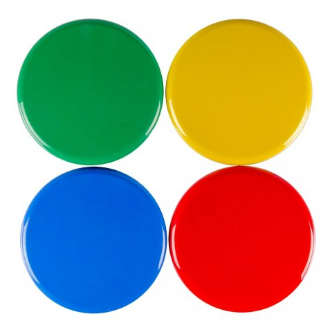 Green, yellow, blue, and red top options.
