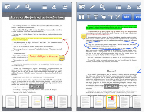 Screenshot of document with toolbar shown along top of screen and editing markups all through the document.