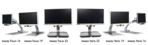Displays six versions of Mezzo magnifiers on six different monitors.