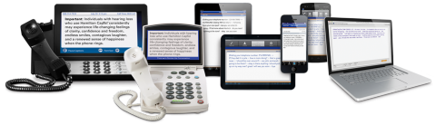 Hamilton CapTel captioning service on the devices it supports.