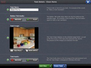 Screenshot with image of task on left and instructions on right.