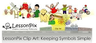Rectangular cartoon image of collage of images, including children, pets, chairs, and bicycles on top of gray menu bar with company name on the left.