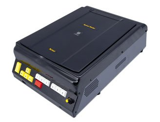 A medium-sized black device resembling a scanner.