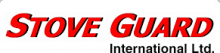 """The words """"Stove Guard"""" in bold, italic, and red font, with """"International Ltd."""" printed in smaller black font underneath."""