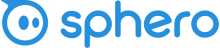 """A blue circle graphic alongside the word """"sphero"""" in blue font against a white background."""