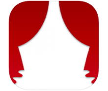 GalaPro logo showing a pair of dark red theater curtains that are tied back.
