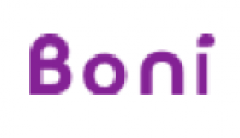 The Logo shown is the company name Boni written in a simple font in purple.