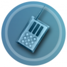 Bearware.dk Logo: An image of a handheld radio (walkie-talkie)