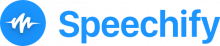 Logo featuring a speech icon to the left of the company name.