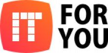 """Logo featuring an orange square with """"IT"""" in white and """"For You"""" to the right of the square."""