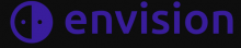 The company name is written in lower case purple text font on a black background. This is preceded by a circle that is divided in half vertically, with the left half being black with a purple dot in its middle and the right half being purple with a black dot in its middle.