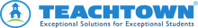 """Logo featuring an icon of a schoolhouse with the company name to the right, and the slogan, """"Exception Solutions for Exceptional Students."""""""