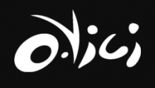 The company name Ovici is written with the o and v like an eye and a brow/nose, displayed in a style that shows a lot of movement.