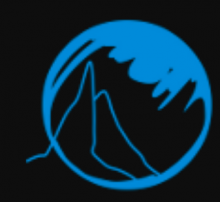 An icon is shown of two mountain peaks in the background with a shadow silhouette opposite them in the foreground, all inside a circle.