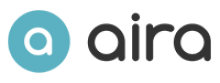 "Aira logo consisting of a seagreen circle with a white lower case a in it. On the side of the circle are the lower case letters ""a-i-r-a"" written in black."