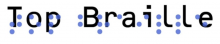 top braille logo