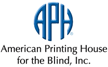 Logo for the American Printing House for the Blind.