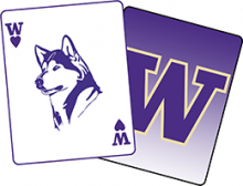 Ace of Huskies University of Washington Logo
