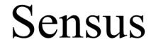 Logo of Sensus.