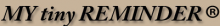 My tiny Reminder Logo