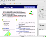 Screenshot of main menu describing program at the top and showing a list of features at the bottom left and right.
