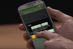 """A person holds a Samsung smartphone and hitting a button on a pop-up menu that says """"Calls"""" with various options."""