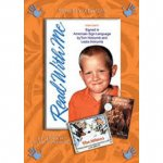 Cover of DVD with a picture of a young boy smiling in the center surrounded by an orange border with hands-on each corner. At the bottom right are the covers of two books.