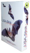 Angled view of software box featuring images of bats flying across the cover.