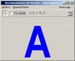 A gray box with a large blue letter A in the center.